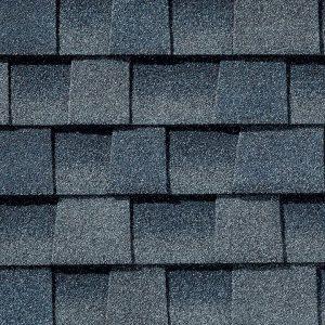 dark blue asphalt roof shingle