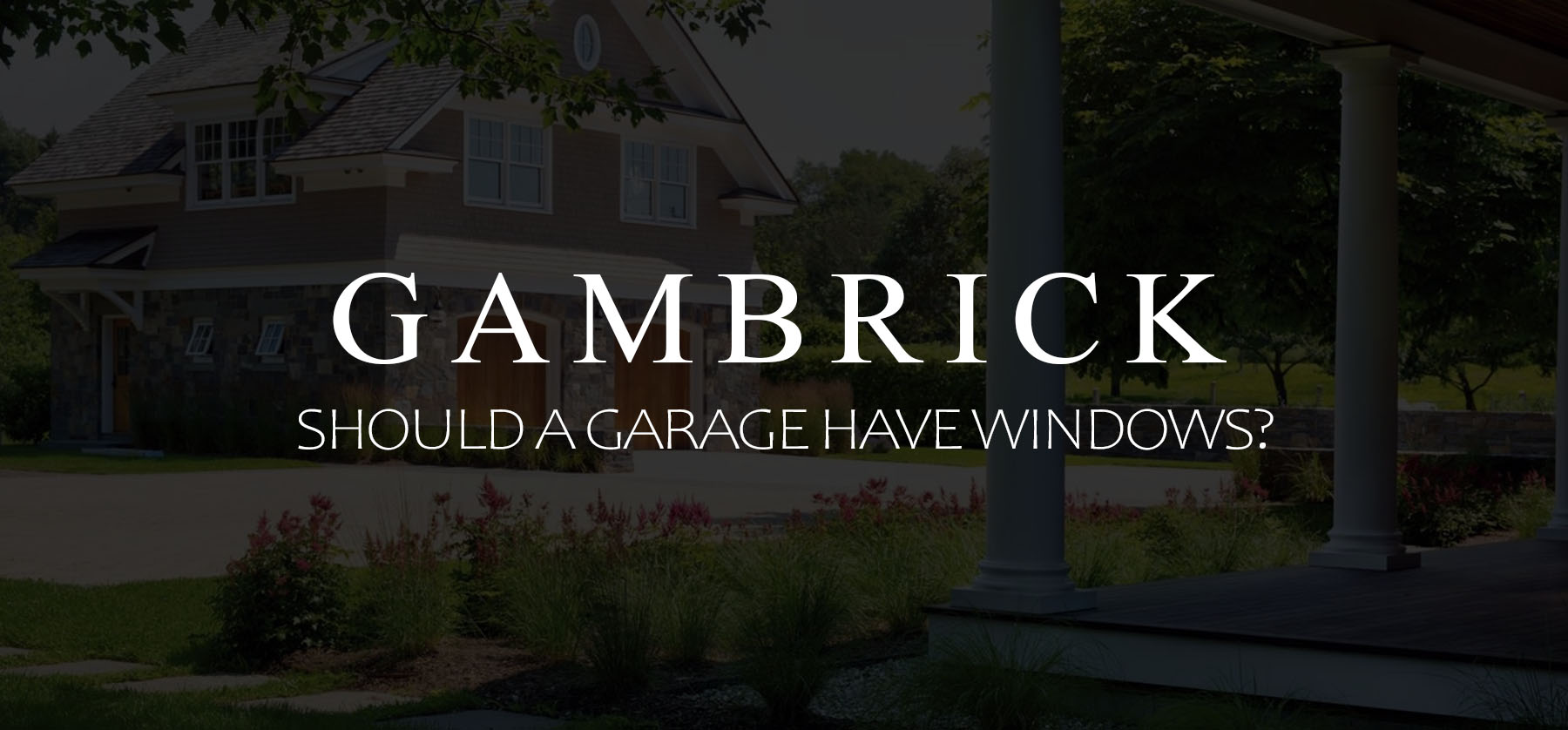 should a garage have windows banner picture