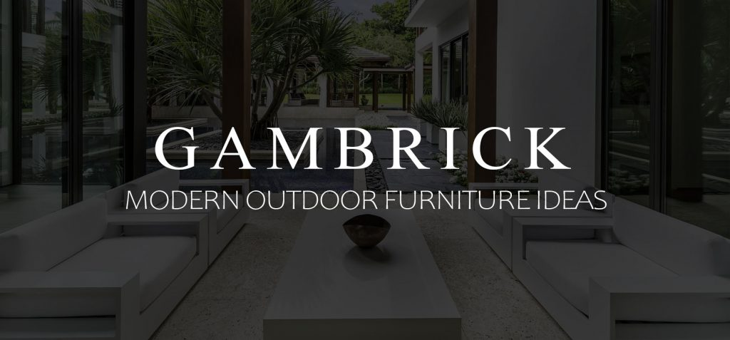 modern outdoor furniture ideas banner picture