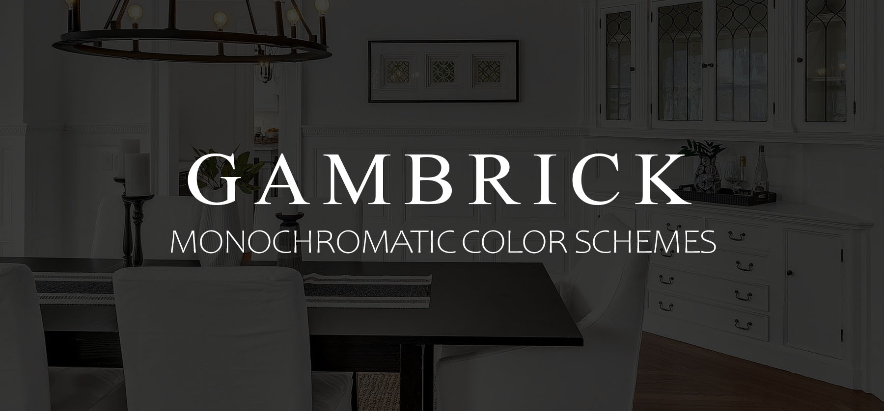 Monochromatic color schemes banner picture