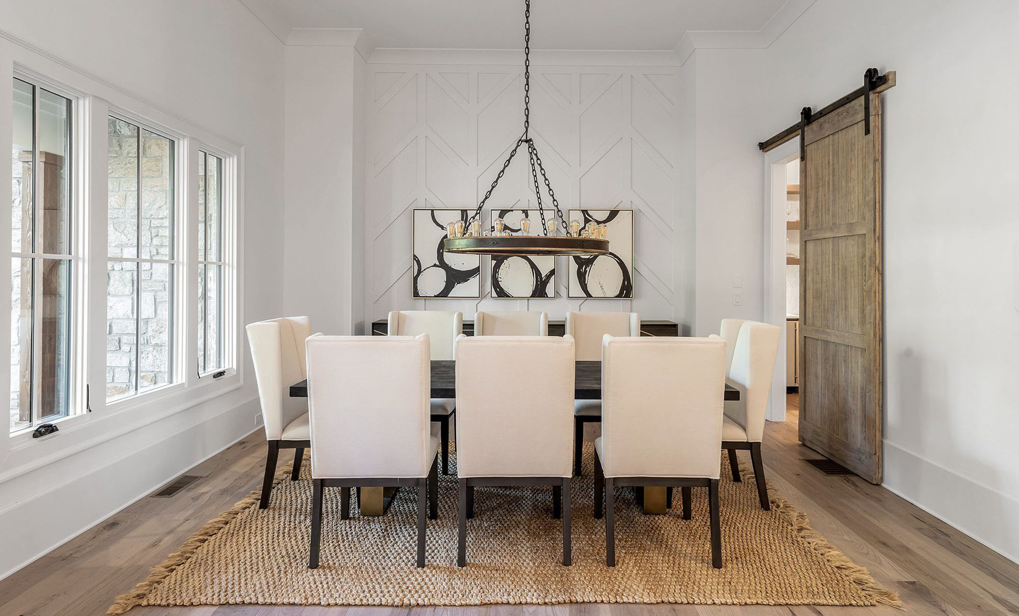 Dining room woven area rug made from natural fibers and no harsh dyes or chemicals. types of area rugs