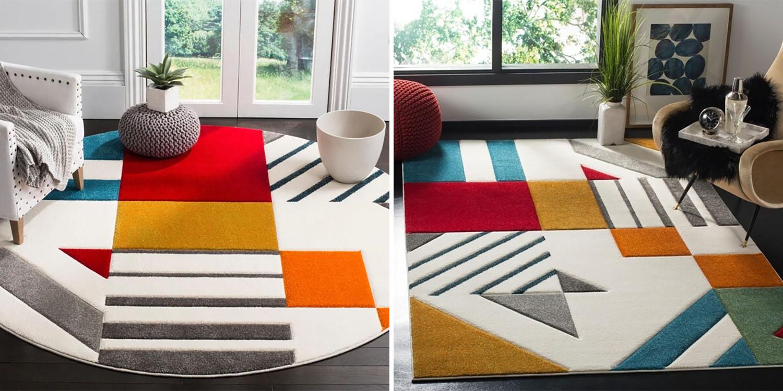 mid century modern rug styles