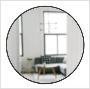 shop the look modern farmhouse round black frame mirror