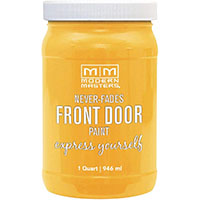 yellow front door paint jar