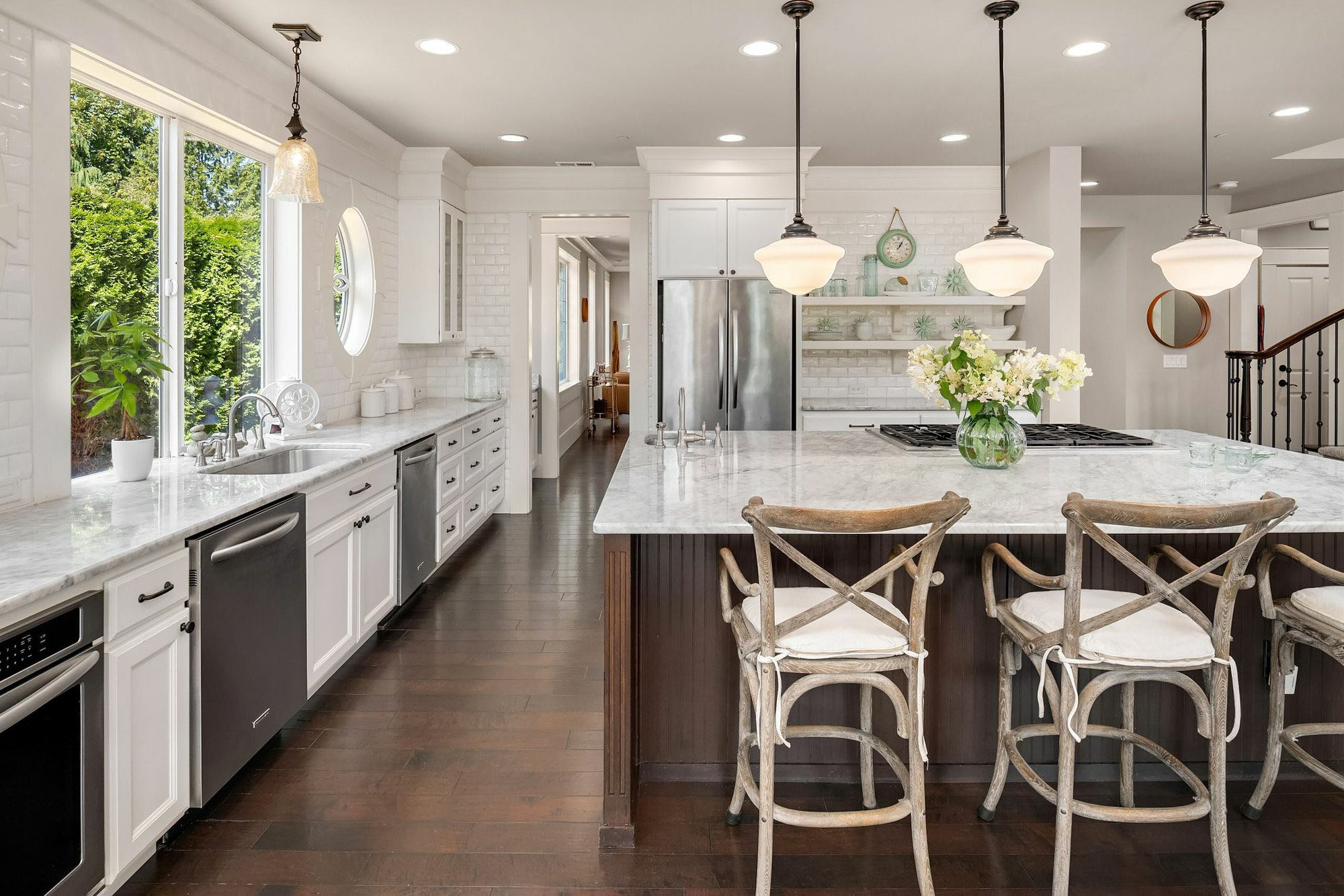 Beautiful luxury kitchen with a great triangle design.