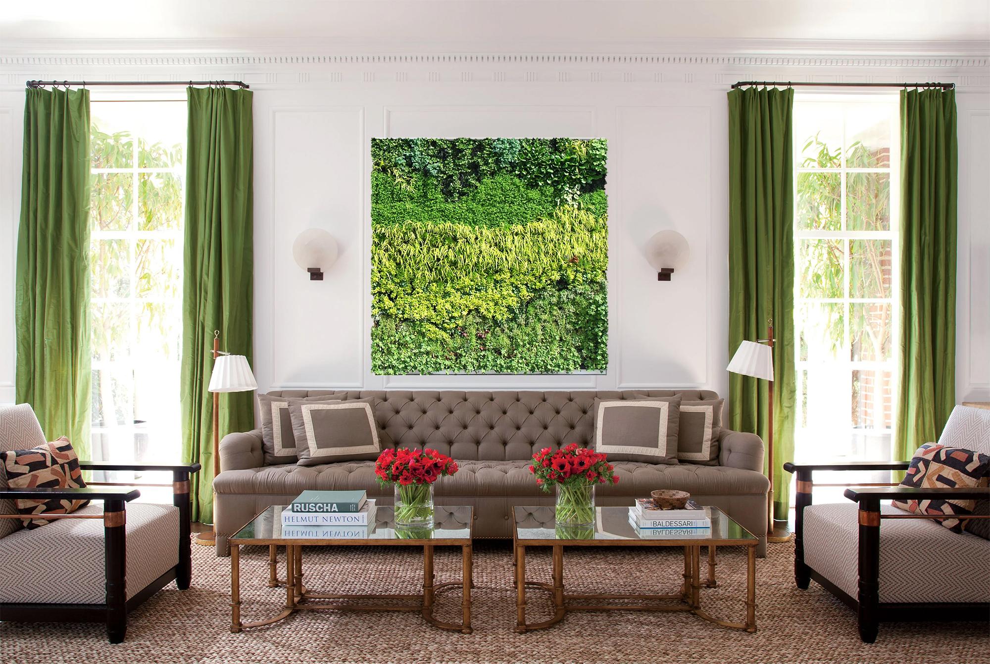 Living room plant wall art.