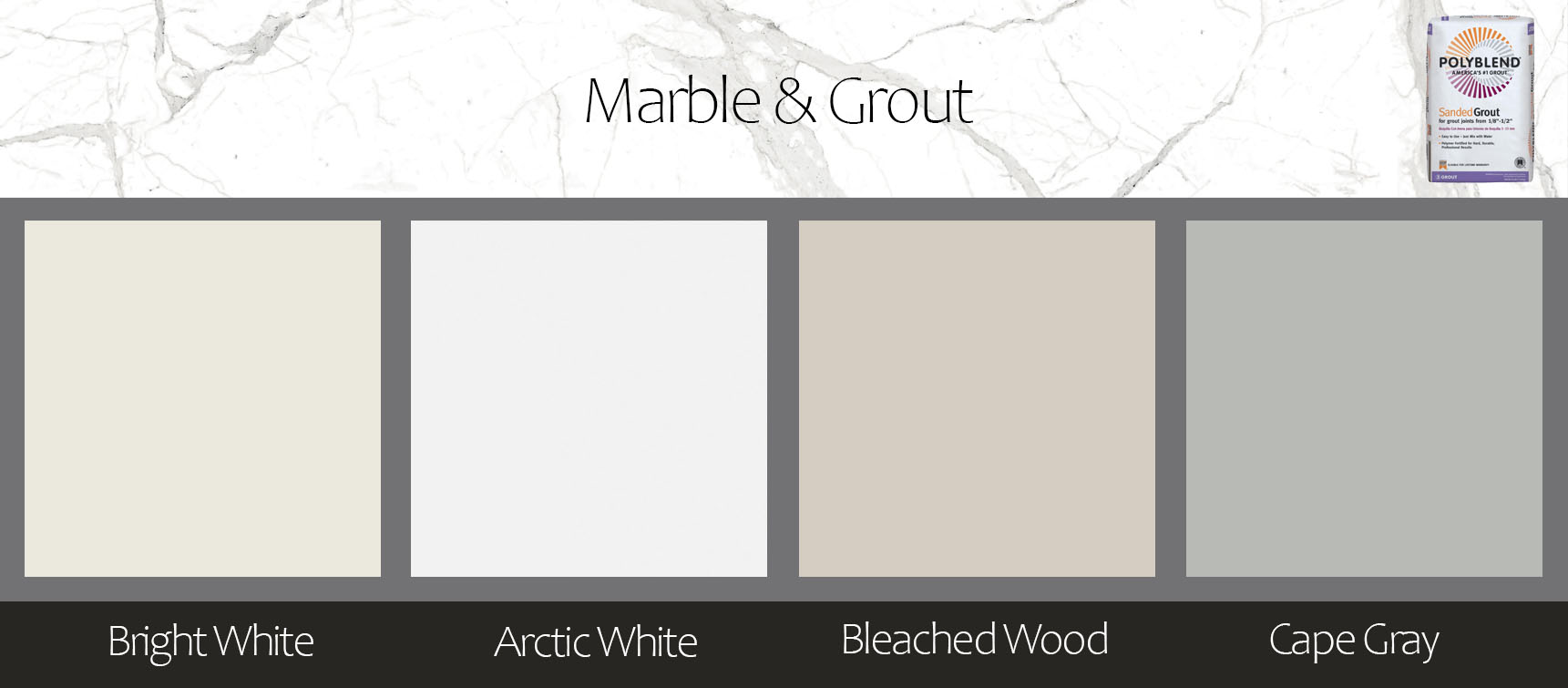 Grout color with marble infographic 1b