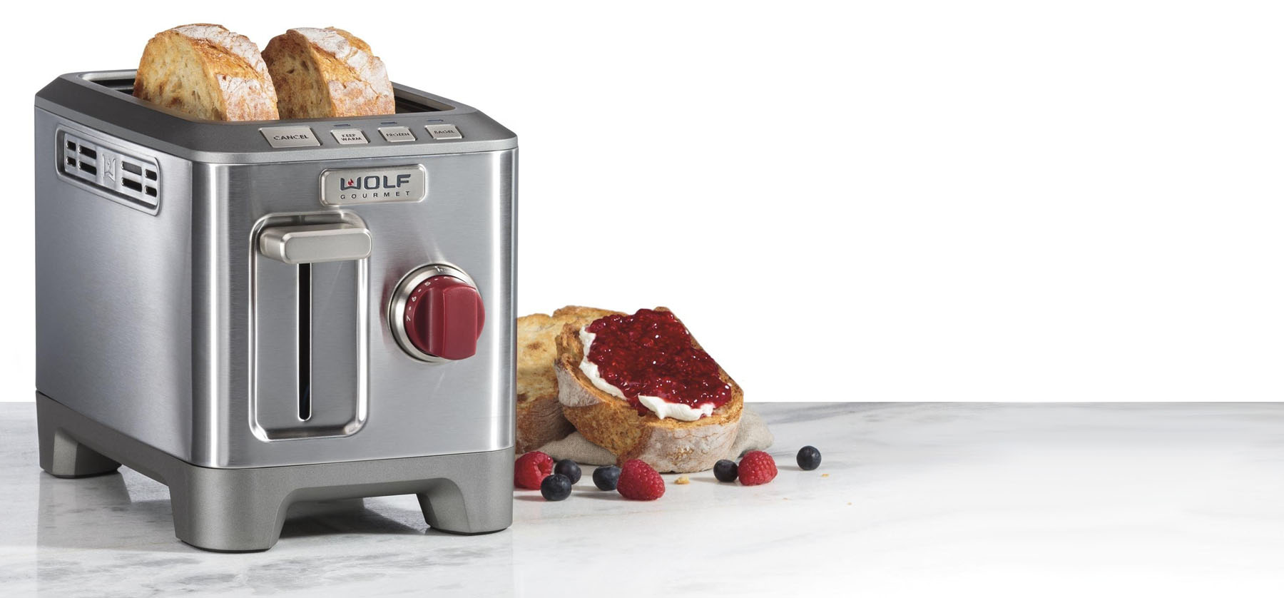 Wolf toaster review 2 slice stainless steel red knob