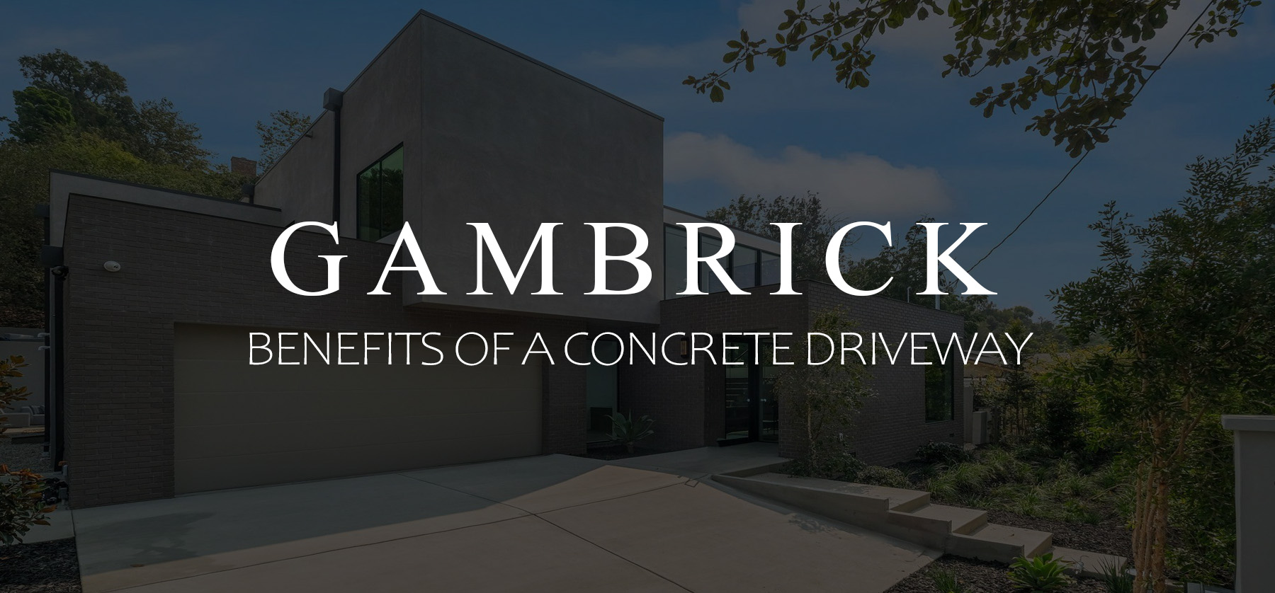 Benefits of a concrete driveway Banner 1