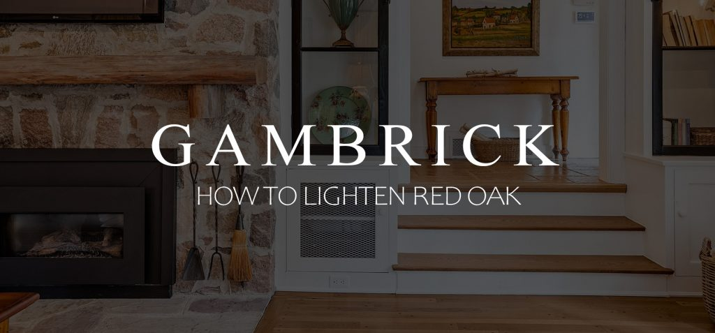 How to lighten red oak Banner 1