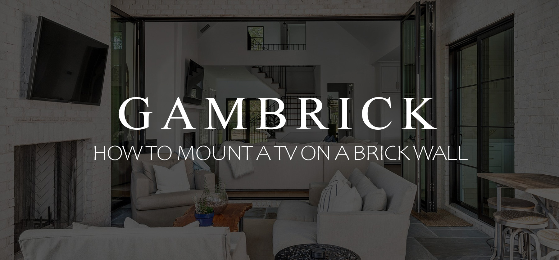 How to mount a TV on a brick wall Banner 1