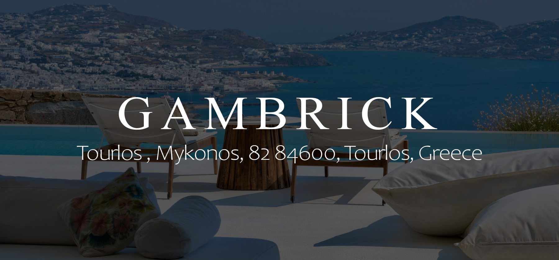 Modern greek home mykonos Banner 1