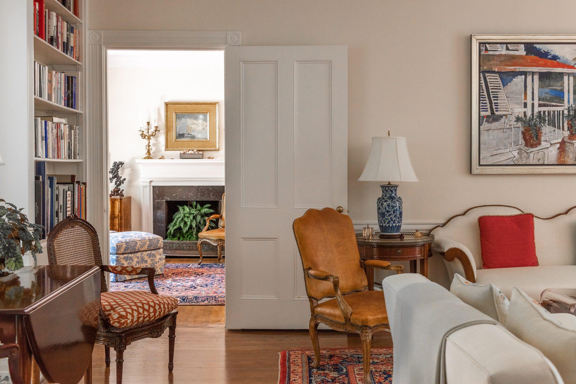Beautiful home with medium golden brown hardwood floors throughout.