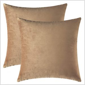 light brown throw pillows with a sheen taupe, tan pillow