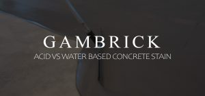 acid vs water based concrete stain banner pic