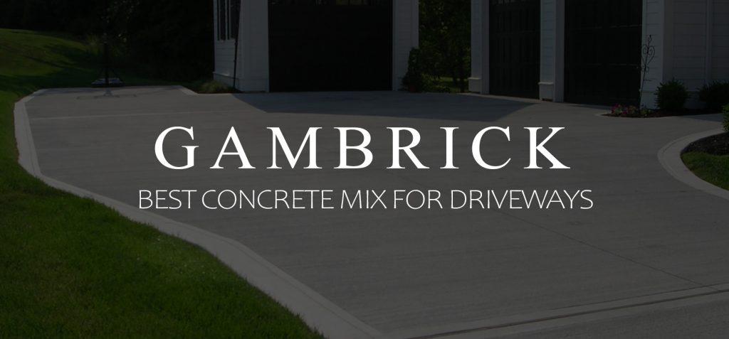 best concrete mix for driveways banner pic
