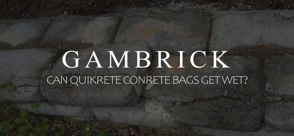 can quikrete concrete bags get wet banner pic