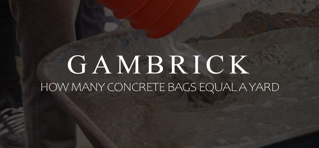 how many concrete bags equal a yard banner pic