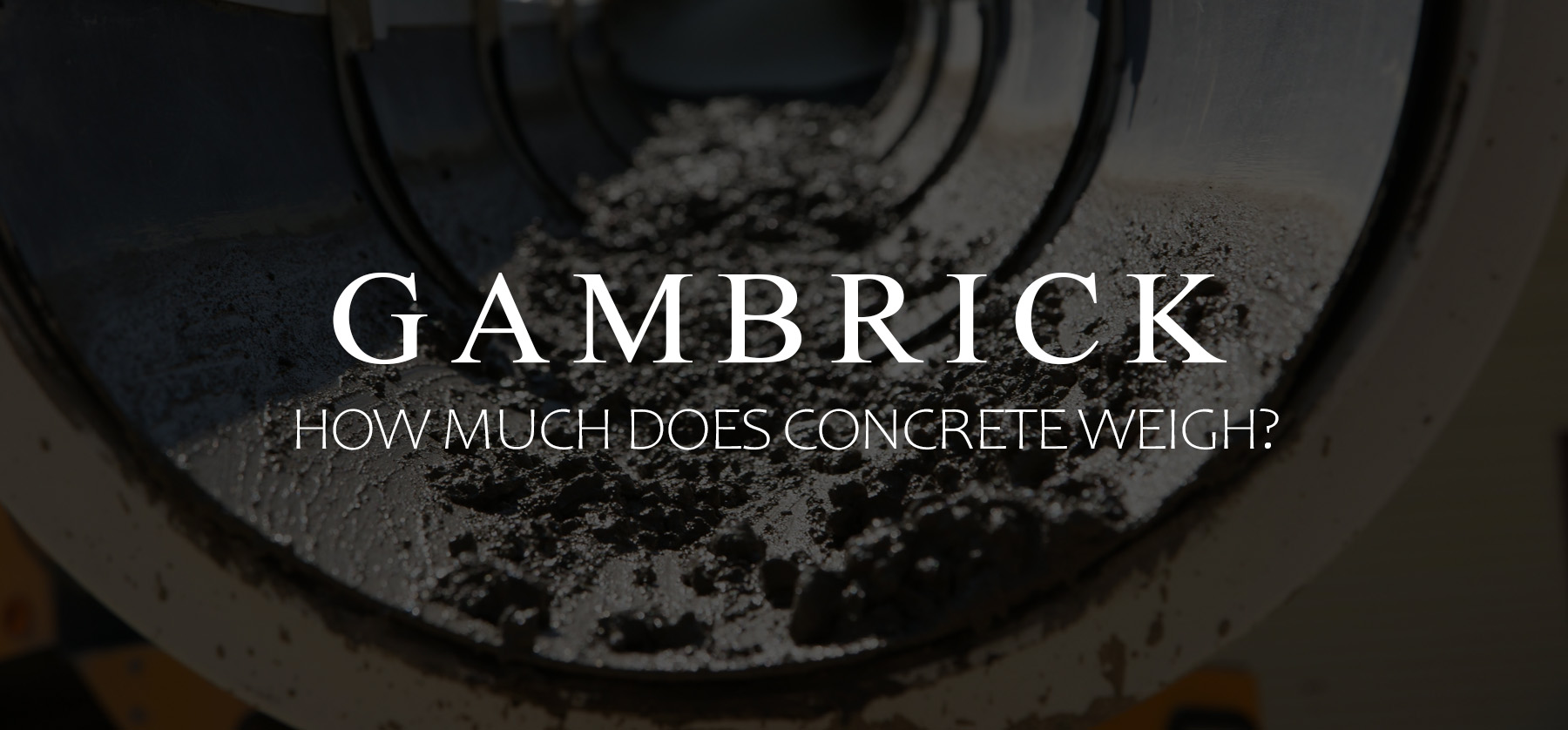 how much does concrete weigh banner pic