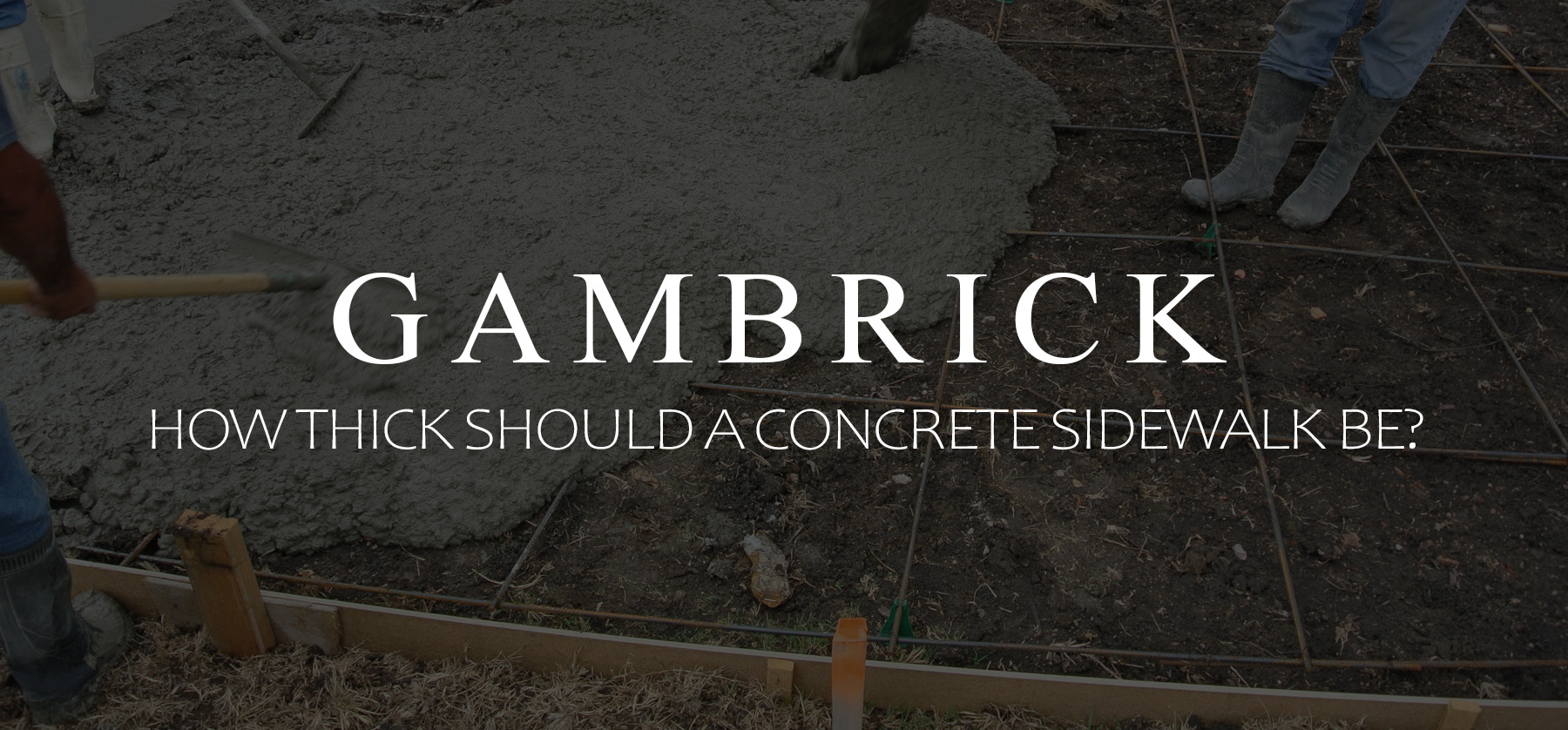 How Thick Should A Concrete Sidewalk Be? banner pic