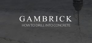 how to drill into concrete banner pic