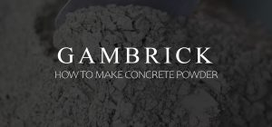 how to make concrete powder banner pic