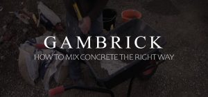 how to mix concrete the right way banner pic