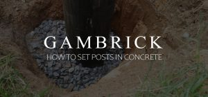 how to set posts in concrete banner pic 1