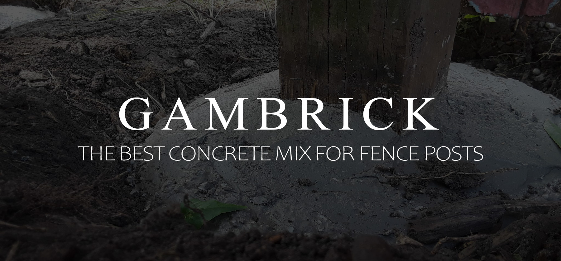 the best concrete mix for fence posts banner 1