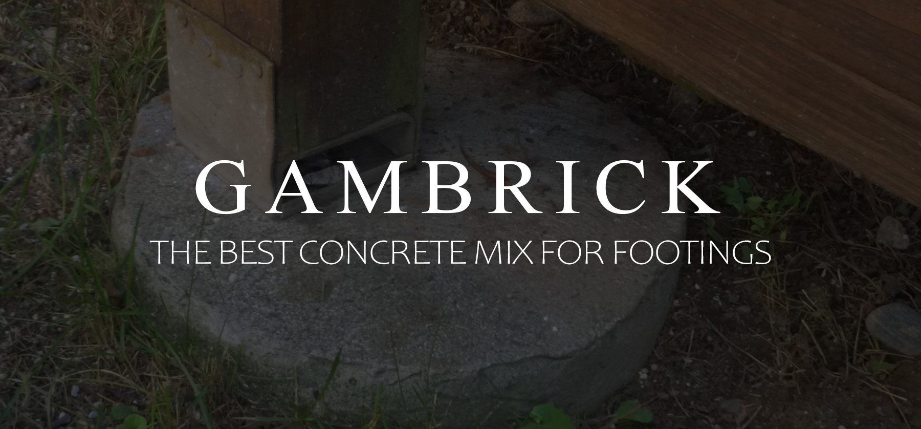 the best concrete mix for footings banner pic