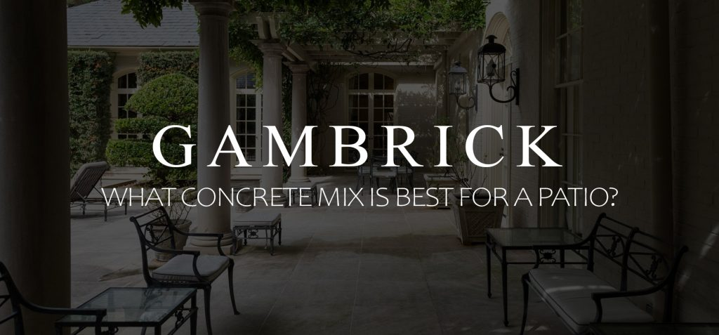what concrete mix is best for a patio banner pic
