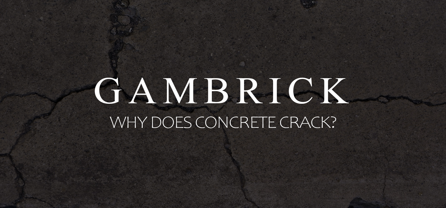 why does concrete crack banner pic