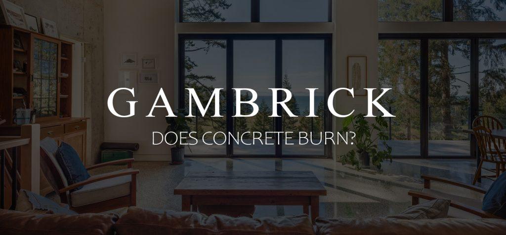 does concrete burn banner pic
