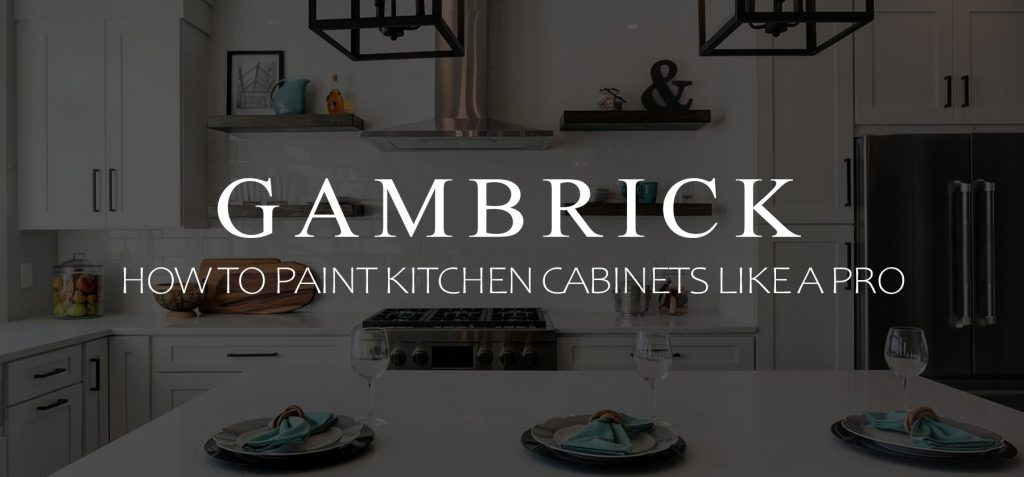 how to paint kitchen cabinets like a pro banner pic