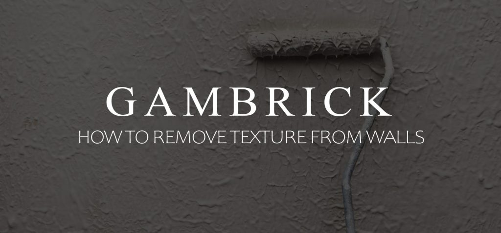 how to remove texture from walls banner pic