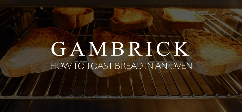 how to toast bread in an oven banner pic