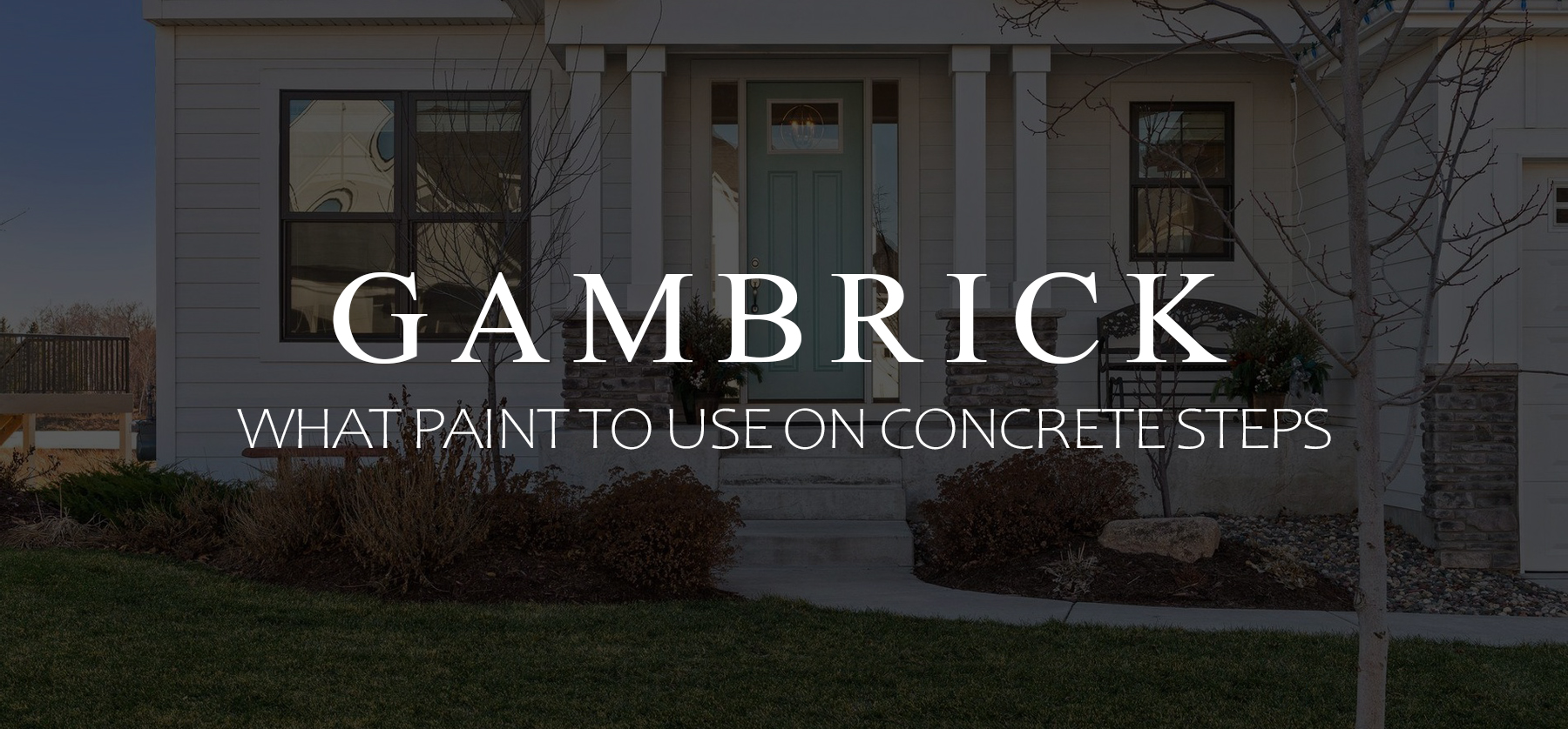 what paint to use on concrete steps banner pic