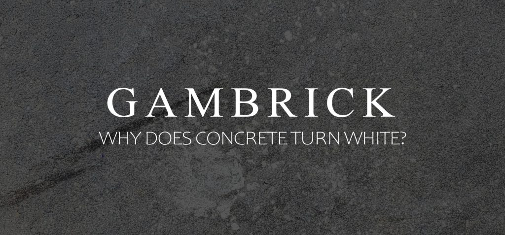 why does concrete turn white