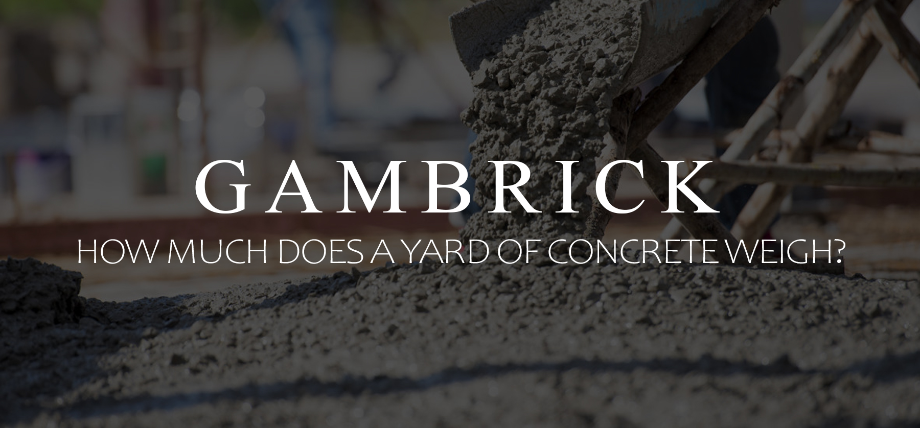 how much does a yard of concrete weigh banner pic