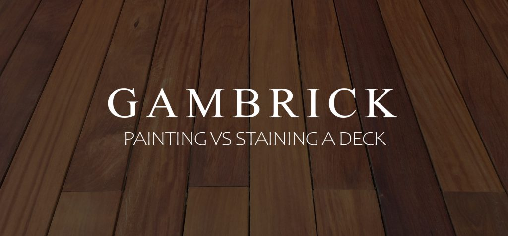 painting vs staining a deck banner pic
