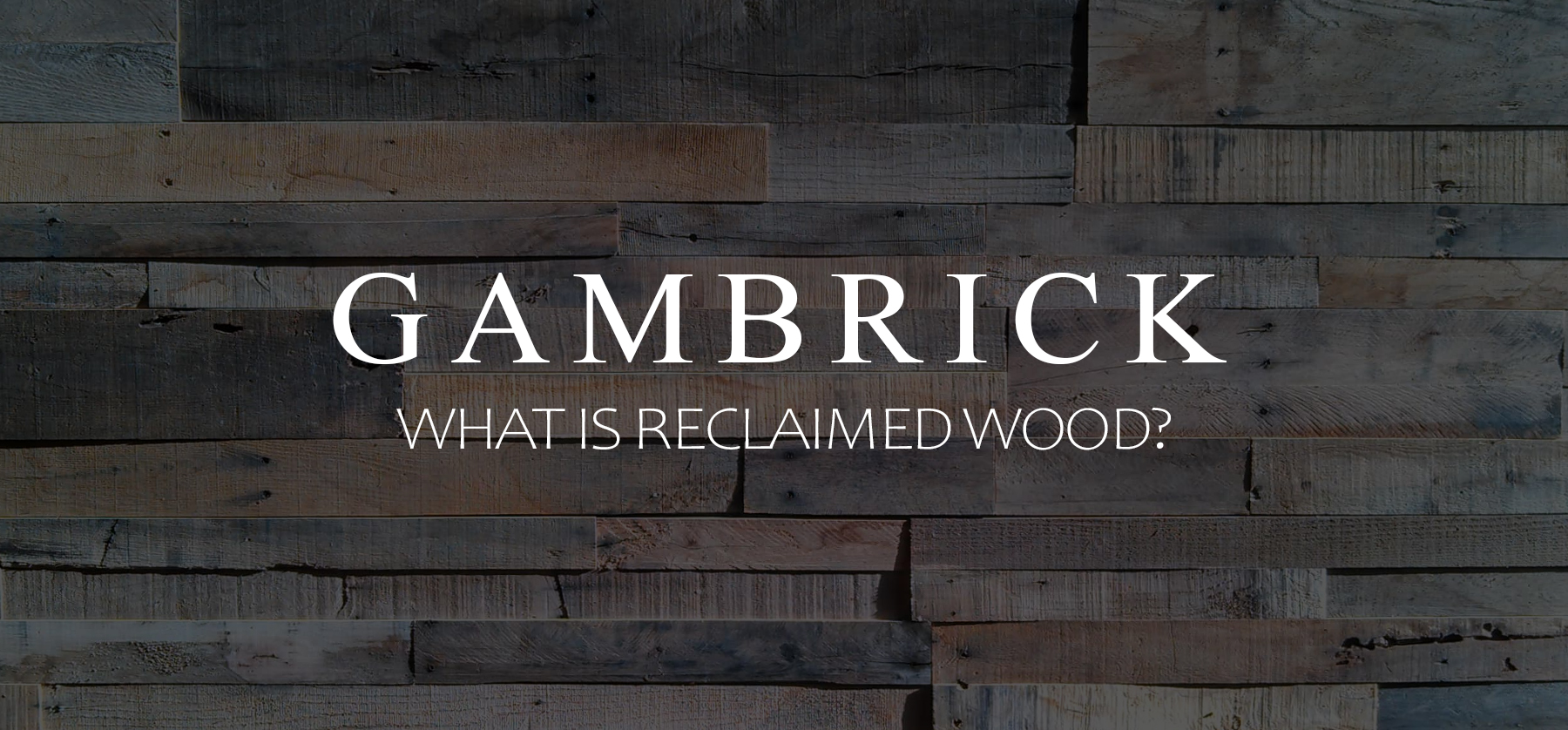 what is reclaimed wood banner pic