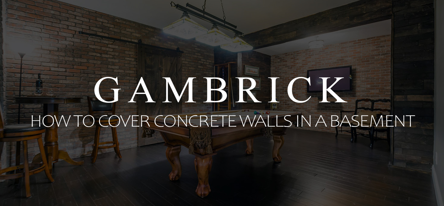 how to cover concrete walls in a basement banner pic